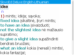 SlovoEd Deluxe English-Lithuanian & Lithuanian-English Dictionary for BlackBerry