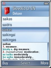 SlovoEd Deluxe English-Lithuanian & Lithuanian-English dictionary for UIQ3