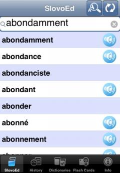 SlovoEd Deluxe French-Russian & Russian-French Dictionary (iPhone/iPad)