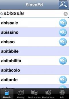 SlovoEd Deluxe Italian-Russian & Russian-Italian Dictionary (iPhone/iPad)