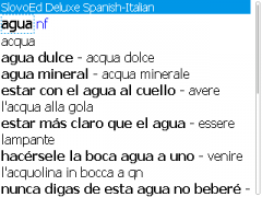 SlovoEd Deluxe Italian-Spanish & Spanish-Italian Dictionary for BlackBerry