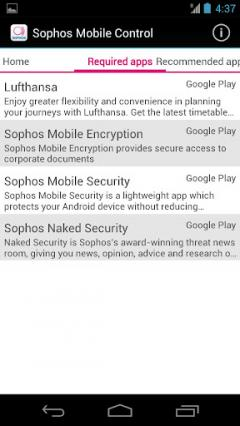 Sophos Mobile Control Client for Android