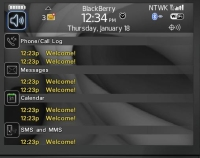 Sparky Today Theme for BlackBerry 8900 Curve