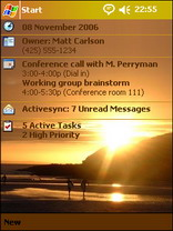 Surf Sunset Pocket PC Theme