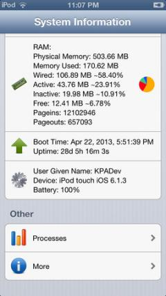System Information for iPhone/iPad