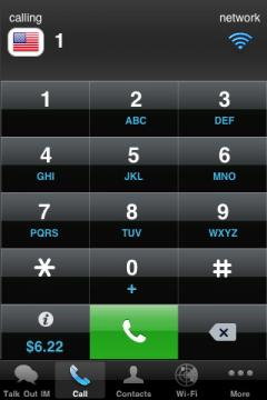 Talk Out Mobile VoIP for iPhone