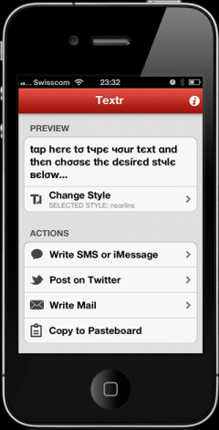 Textr for iPhone/iPad