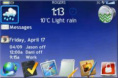 The Ocho Theme for BlackBerry 9000 Bold