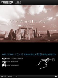 The Panasonic World Heritage Calendar for iPad