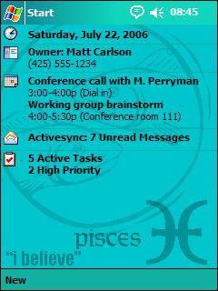 The Zodiac Themes (Pisces) Theme for Pocket PC
