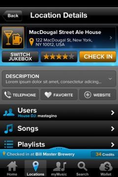 TouchTunes for iPhone