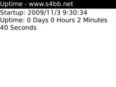 Uptime for BlackBerry