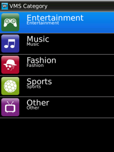 VMS for BlackBerry
