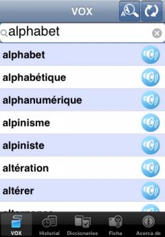 VOX French-Spanish & Spanish-French Dictionary (iPhone/iPad)