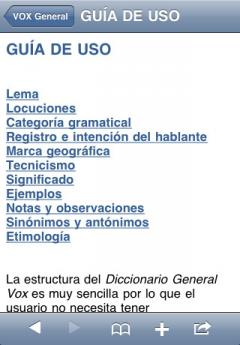VOX General Spanish Dictionary and Thesaurus (iPhone/iPad)