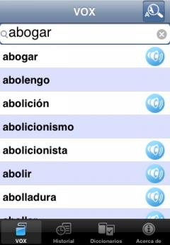 VOX Spanish Explanatory Dictionary with Sound Module (iPhone)