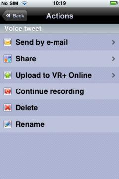 VR+ Voice for Twitter / Facebook / Blogger / MySpace - Lite (iPhone)
