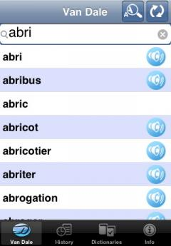 Van Dale Dutch-French & French-Dutch Dictionary (iPhone/iPad)