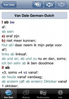 Van Dale Dutch - German Dictionary (iPhone/iPad)