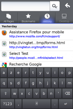 Virtual Keyboard for Fennec - Firefox Addon