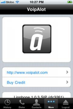 VoipAlot for iPhone