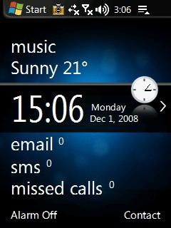 Windows Mobile 6.5 QVGA Theme for WisBar Advance Desktop