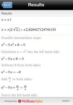 Wolfram Algebra Course Assistant for iPhone/iPad