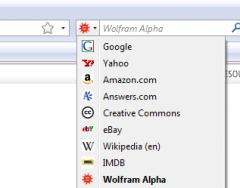 Wolfram Alpha - Firefox Addon