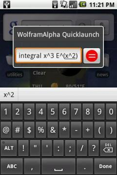 WolframAlpha Quicklaunch