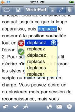 WritePad French Edition