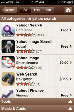 Yahoo! AppSpot for iPhone