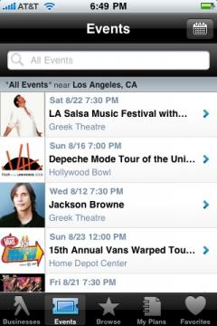 YP Mobile for iPhone