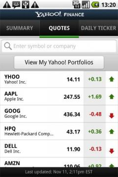 Yahoo! Finance for Android