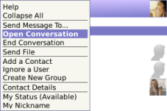 Yahoo Messenger for BlackBerry