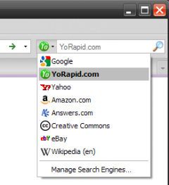 YoRapid.com Search Extension - Firefox Addon