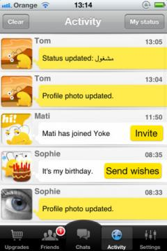 Yoke Messenger for iPhone