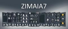 Zimaia7 WQVGA Theme for WisBar Advance Desktop