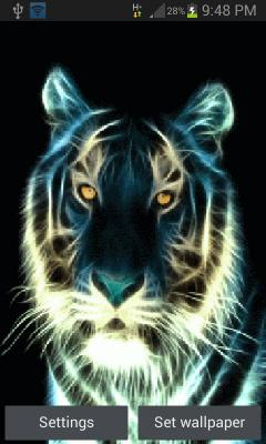 Abstract Tiger Live Wallpaper