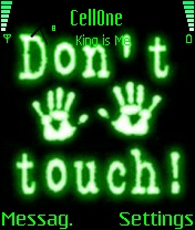 Animated Dont Touch