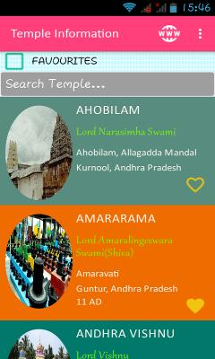 AP Temples Information