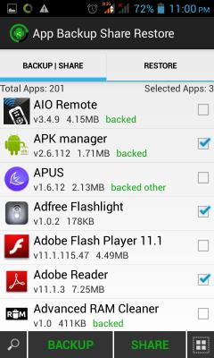 App Backup Share Restore