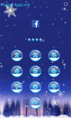 AppLock Theme Xmas Night