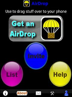 AirDrop for BlackBerry OS 4.2.x through 4.5.x