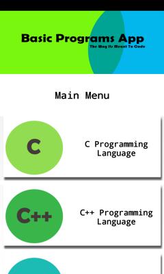 Basic Programs App