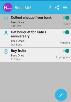 Beep Me - A location based reminder app