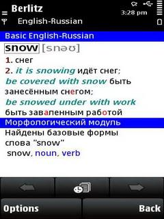 Berlitz Basic Dictionary English-Russian / Russian-English for S60