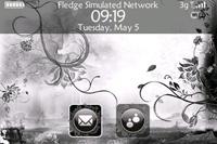 Black Flower Theme Pack (Zen) for BlackBerry Bold 9000