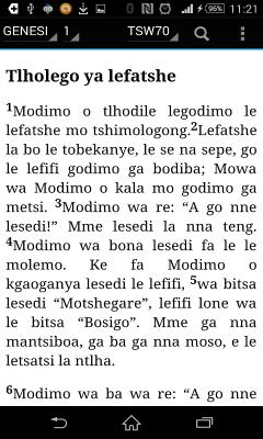 Bible in Tswana - BEIBELE