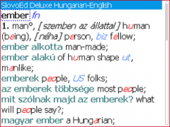 SlovoEd Deluxe English-Hungarian & Hungarian-English dictionary for BlackBerry