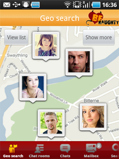 BeNaughty in AU. Android App